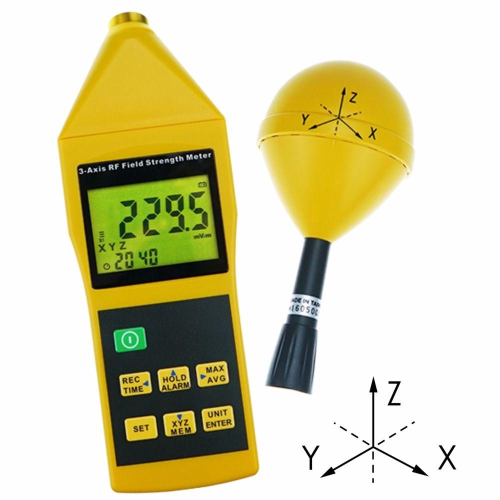 Strahlung Tester 10 mhz zu 8 ghz w/Alarm und Stativ Montage MIni Dreiachsigen Tri-Achse RF feldstärke Meter