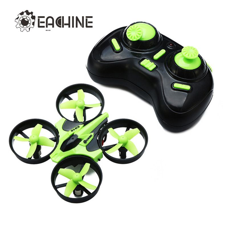 New Arrival Eachine E010 <font><b>Mini</b></font> 2.4G 4CH 6 Axis 3D Headless Mode Memory Function RC Quadcopter RTF RC Tiny Gift Present Kid Toys