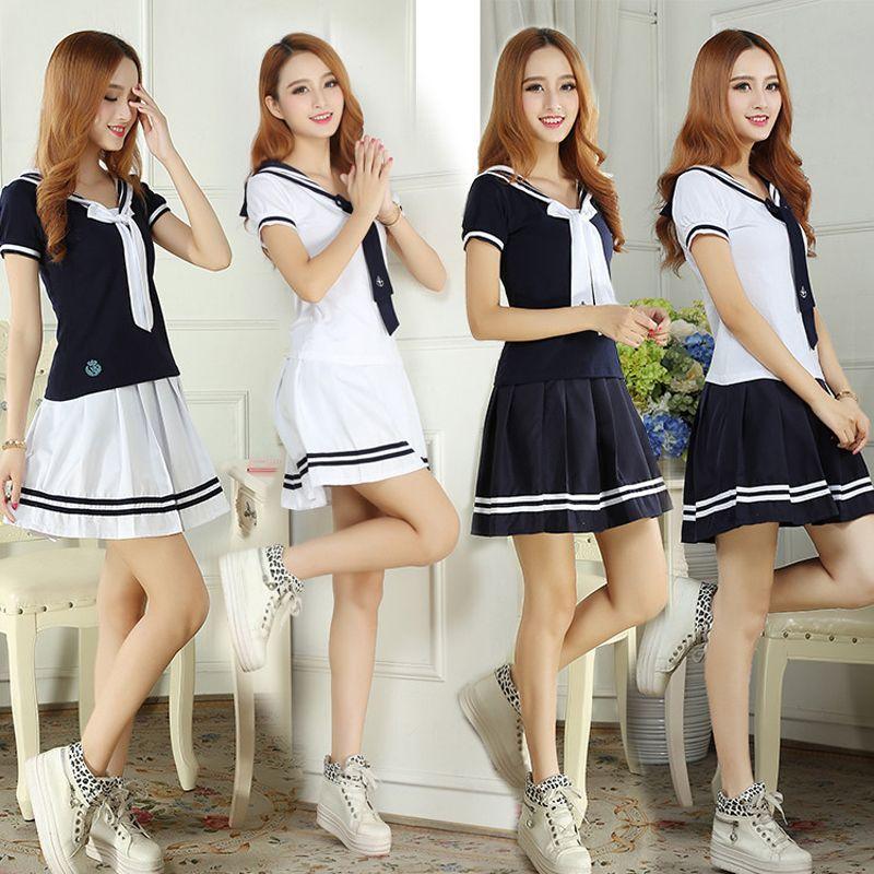 3XL uniformes scolaires uniformes de marin T-shirt à manches courtes + jupe pièce équipée Sexy filles grande taille vêtement japonais Cosplay Anime