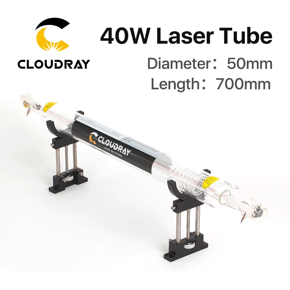 Cloudray Co2 Glass Laser Tube 700MM 40W Glass Laser Lamp for CO2 Laser Engraving Cutting Machine