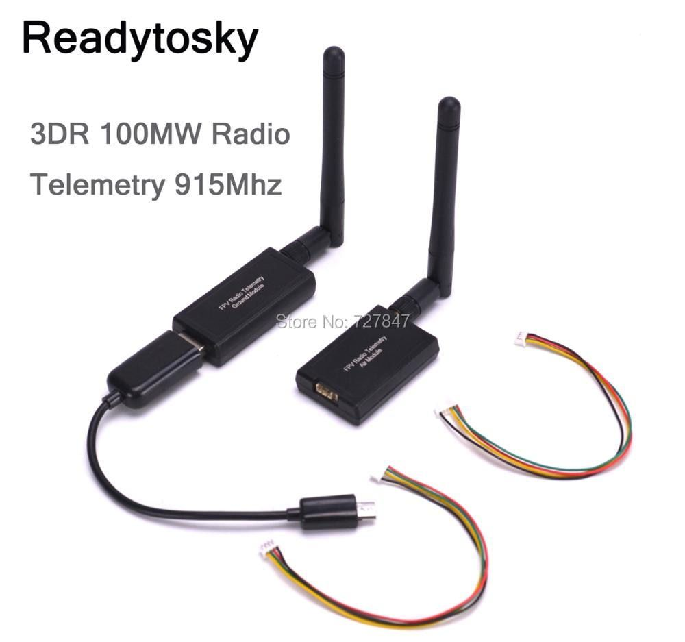 3DR 100mW Radio Telemetry 915Mhz Air and Ground Data Transmit Module for APM 2.6 2.8 Pixhawk Flight Control