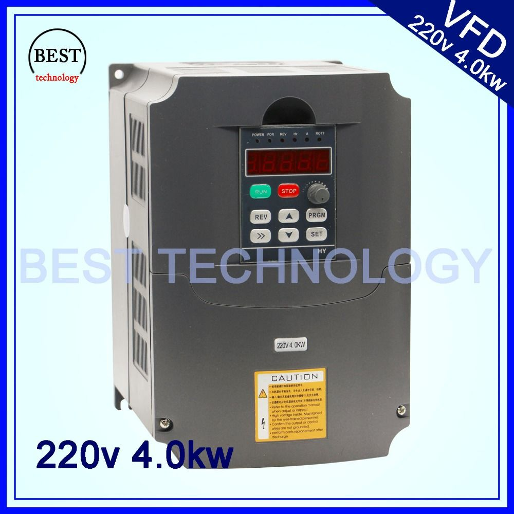 220v 4.0kw VFD Variable Frequency Drive VFD /Inverter 1HP or 3HP Input 3HP Output frequency inverter