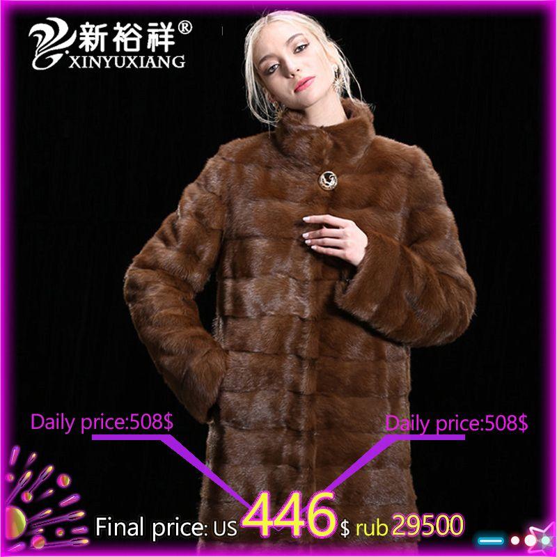 Mode frauen Real Nerz Mäntel Dicke Warme Anpassbare Winter Pelz jacke Outwear Parka Für Weibliche Mädchen der Echte pelz Mantel
