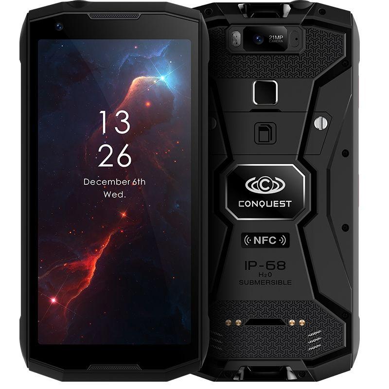 Eroberung S12 Smartphone 5,99 FHD Bildschirm Android 8.1 MTK6763 Octa Core 6 GB RAM 128 GB ROM 4G Wasserdicht 8000 mAh Walkie Talkie NFC