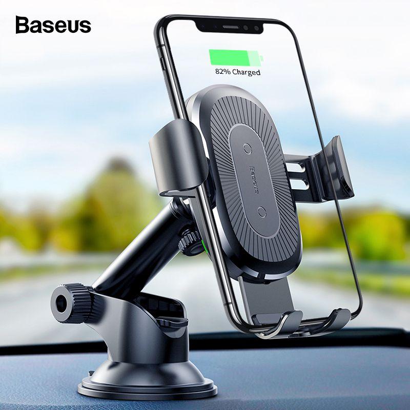 Baseus Sans Fil Chargeur De Voiture Pour iPhone Xs Max Xr X 8 Samsung Note 9 Qi Sans Fil Chargeur Rapide Wirless Chargement support de Téléphone de voiture