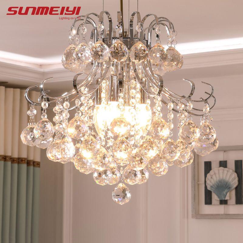 2019 luxe cristal lustre salon lampe lustres de cristal intérieur lumières cristal pendentifs pour lustres livraison gratuite