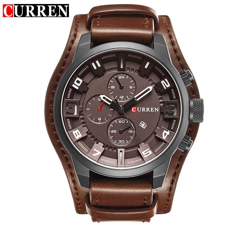 Original CURREN Top Brand Men <font><b>Sports</b></font> Waterproof Quartz Watch Military Luxury Calendar Wristwatches relogio masculino 8225