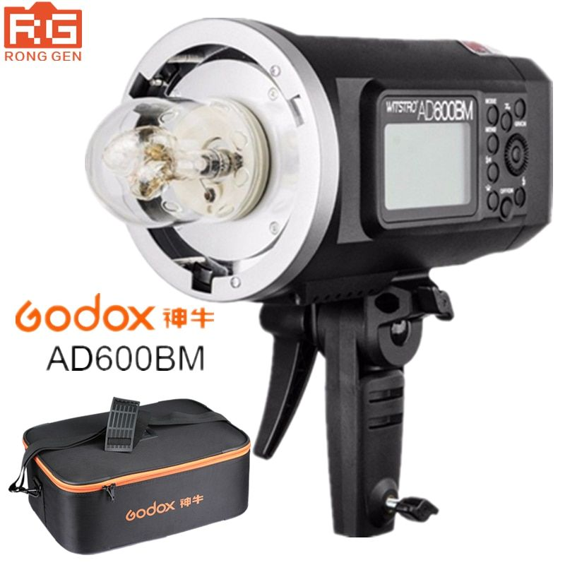 Godox AD600BM 600WS GN87 HSS 1/8000s Outdoor Flash Photography lights Strobe 2.4G Wireless X System with 8700mAh Li-ion Battery