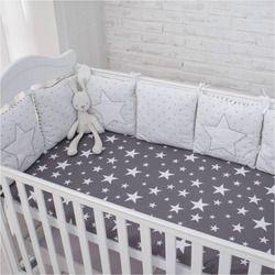 Nueva llegada de la alta calidad flexible combinación estrella cama cómodo proteger el bebé fácil uso Parachoques en el cuna
