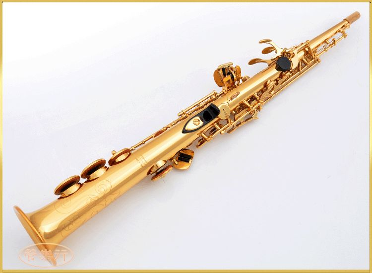 L&K Soprano Saxophone OEM YSS-475 B flat Electrophoresis Gold Top Musical Instruments Sax Soprano professional grade