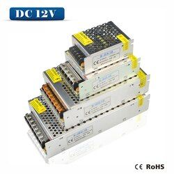 Трансформатор освещения 1A 2A 3A 5A 8A 10A 12A 15A 20A 30A 40A 110-265 В до 12 В светодио дный водителем переключатель адаптер питания для светодио дный полосы