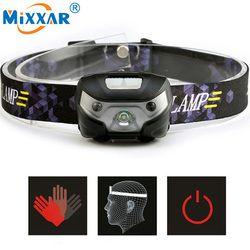 Mini recargable LED faro 4000Lm Sensor de movimiento del cuerpo linterna cabeza luz antorcha lámpara con USB