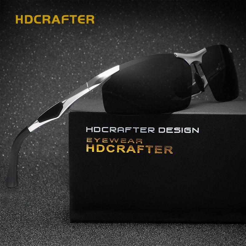 Hdcrafter mens sport polarisierte sonnenbrille männer im freien sonnenbrille angeln retro männlich fahren vintage eyewears zubehör oculos