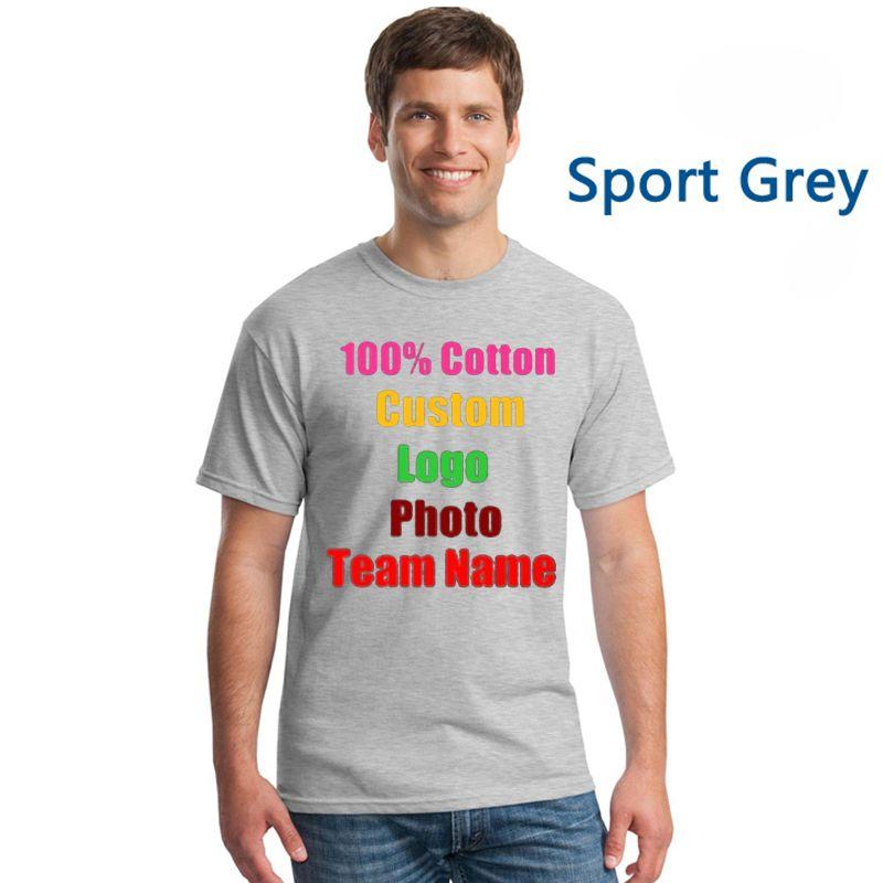 Homme coton surdimensionné marine dos personnalisé hommes T-shirt personnalisé équipe partie entreprise Logo Photo texte imprimé mâle 3XL t-shirts hauts t-shirts