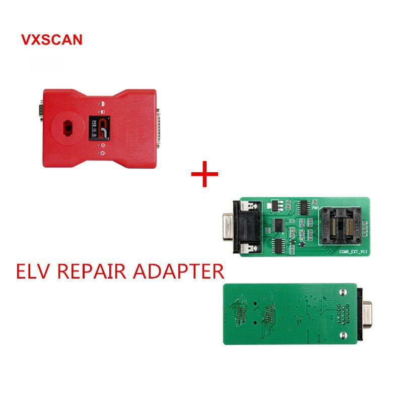 CGDI Prog MB for Benz Car Key Add Fastest for Benz Key Programmer Support All Key Lost Plus ELV Repair Adapter/NEC Adapter