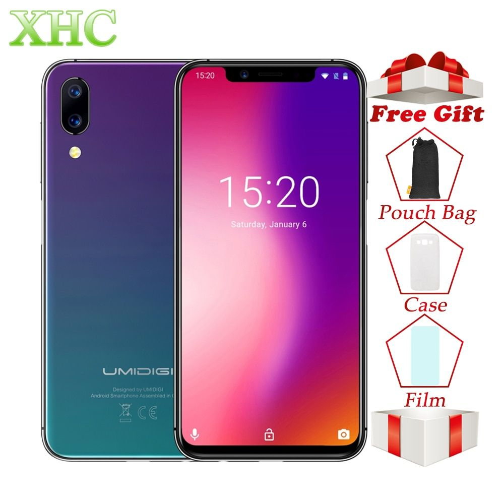 UMIDIGI One Pro 4GB+64GB Smartphones Dual Back Cameras Face ID 5.9 inch Android 8.1 Wireless Charging Dual 4G LTE Mobile Phones