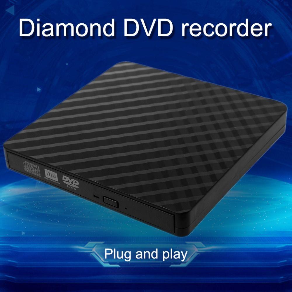 Ultra-slim Externe USB 3.0 CD DVD Rom Schriftsteller Rewriter Brenner Player Datenübertragung 5 Gbps für Macbook Laptop PC