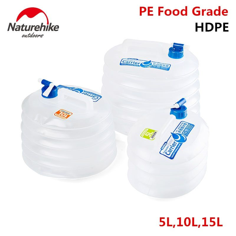 NatureHike Fabrik Shop Außen Faltbare Wasser Container Folding Eimer Lagerung PE Lebensmittelqualität Camping faltbare wasserbeutel
