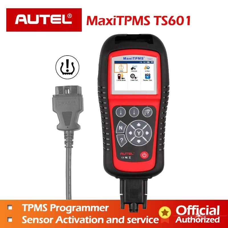 Autel MaxiTPMS TS601 TPMS Tool Wireless TPMS Sensor with GIFT Reset Relearn Activate Programming Tool OBD2 Code Reader Function