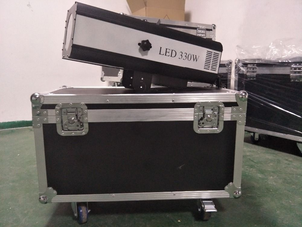 free shipping with flight case 330w led follow spot light for stage light event party wedding