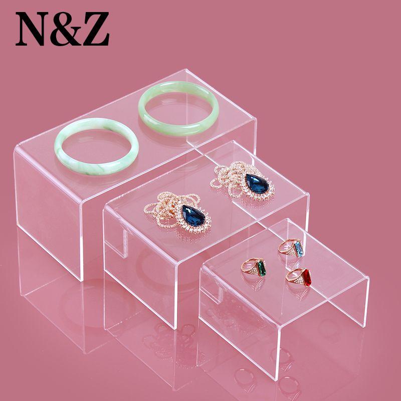 Vente chaude 3 pcs par ensemble bijoux affichage portefeuille titulaire montre rack téléphone portable stand avec acrylique matériel belle nouvelle conception