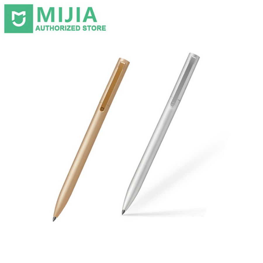 Original Xiaomi All Metal Mijia Sign Pen 2 MI Pen 0.5mm Signing Pen PREMEC Smooth Switzerland Refill Metal Ink Gold And Silver