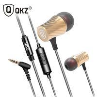 Наушники 100% оригинальные QKZ DM3 Роскошные стерео наушники гарнитура 3,5 мм в ухо наушники вкладыши для iPhone samsung С микрофоном