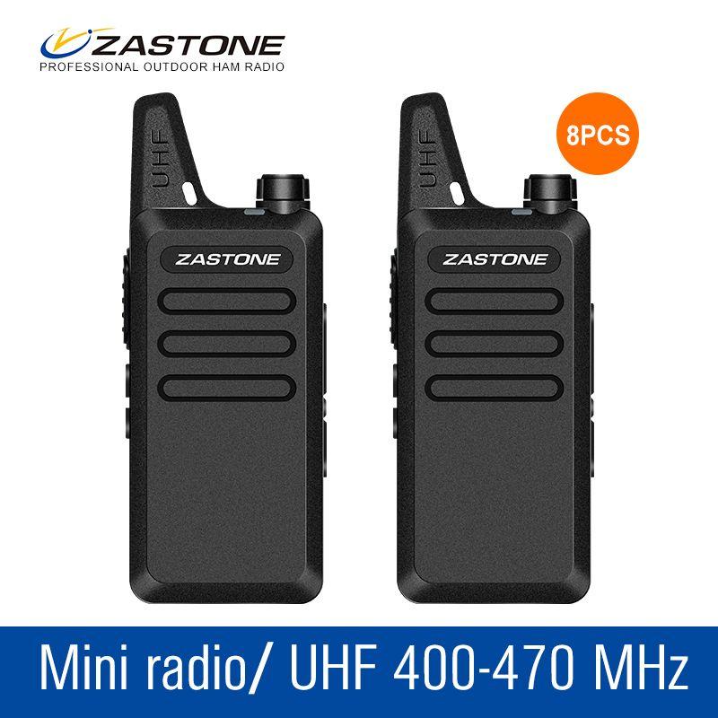 8Pcs/lot Walkie Talkie Set ZT-x6 Handheld Ham Radio 400-470MHZ Portable Radio Communicator Tool Amateur Radio Kids Radio