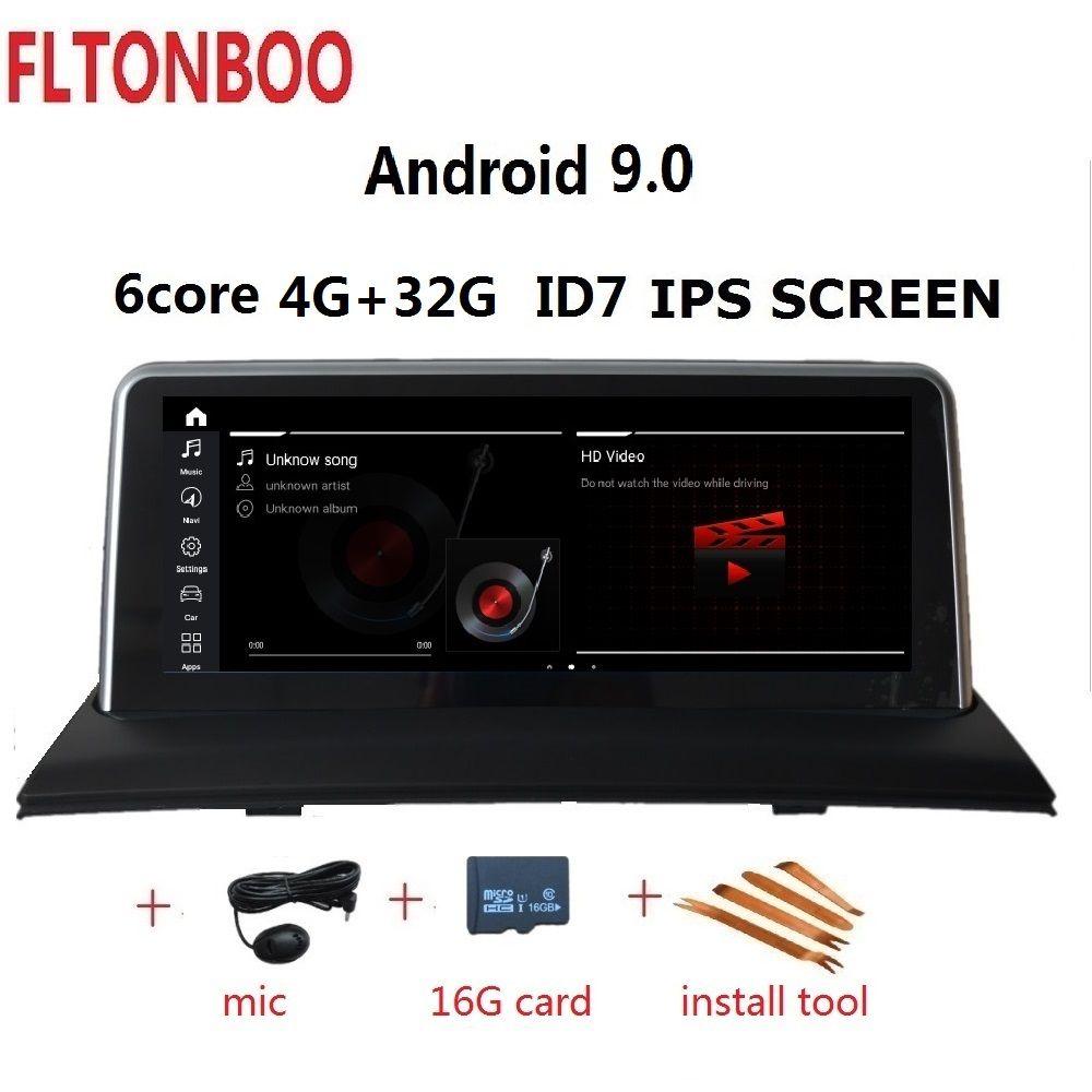 10,25 zoll Android 9.0 Auto Gps radio plyaer navigation ID7 für BMW X3 E83 unterstützung 4GB RAM 32GB ROM 6 CORE wifi bluetooth