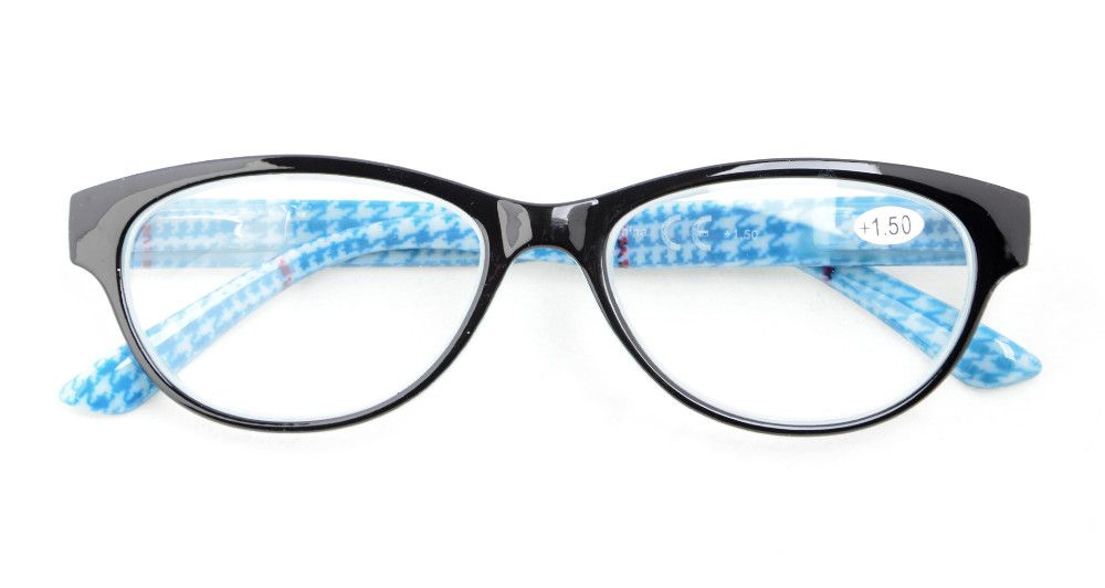 Mix 5-Pack Readers Spring Hinges Retro Cat-eye Reading Glasses Women +0.50----+4.00 KD179-195