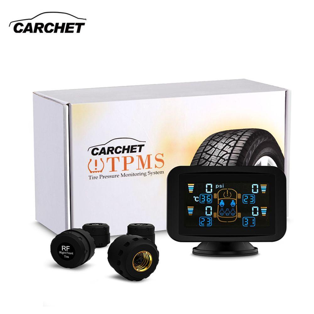 CARCHET Reifendruckkontrollsystem Intelligente System TPMS Set Externe Sensoren LCD Sauger Display Auto Detector FREIE