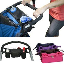Baby Stroller Organizer Cooler and Thermal Bags for Mum Hanging Carriage Pram Buggy Cart Bottle Bags Stroller Accessories