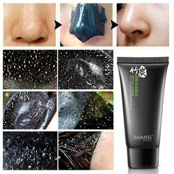 BAIMISS Nose Blackhead Remover Face Black Mask Acne Treatment Peeling Mask Suction Facial Skin Care Pore Strip Black Head Masks