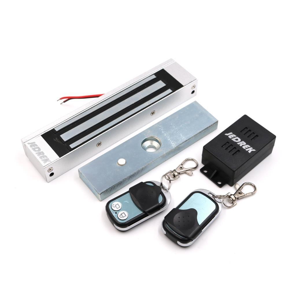 Drahtlose 315 mhz Fernbedienung Magnetische lock Kit mit Fernbedienung Griff Exit-Button Netzteil 180 kg 350Lbs
