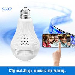 Security Camera 960P HD video Bulb Wireless Home Security Surveillance 360 Night Vision Two-way Audio Motion Detection Indoor