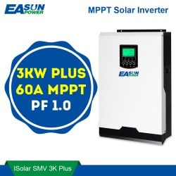 EASUN POWER MPPT Solar Inverter 3000W 24V 220V 60A MPPT Off Grid Inverter 3Kva Power Inverter Solar Charger 60A Battery Charger