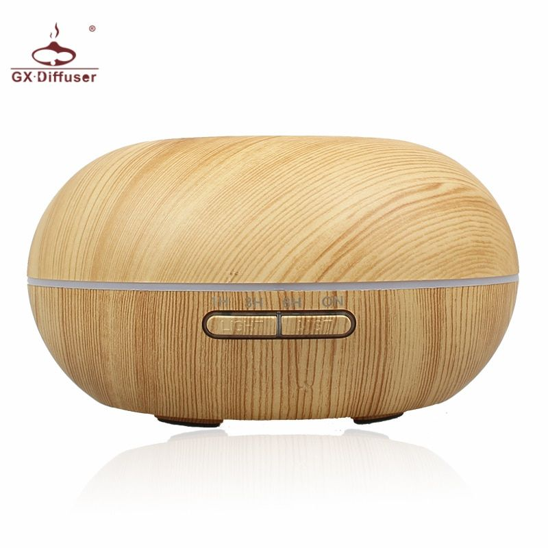 GX.Diffuser 300ML Color Changing Ultrasonic Air Humidifier Aromatherapy Essential Oil Diffuser Electric Aroma Diffuser Mist Make
