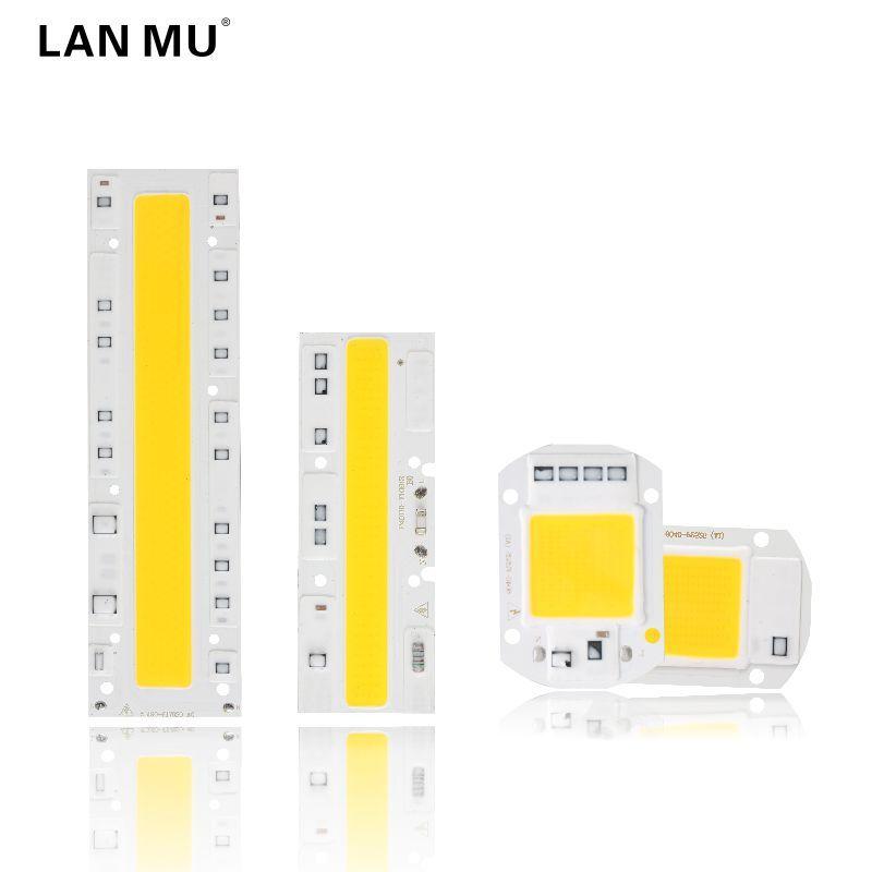 LAN MU COB LED Lamp Chip 110V 220V High Power 10W 20W 30W 50W 70W 100W Input Smart IC No Driver LED Bulb Flood Light Spotlight
