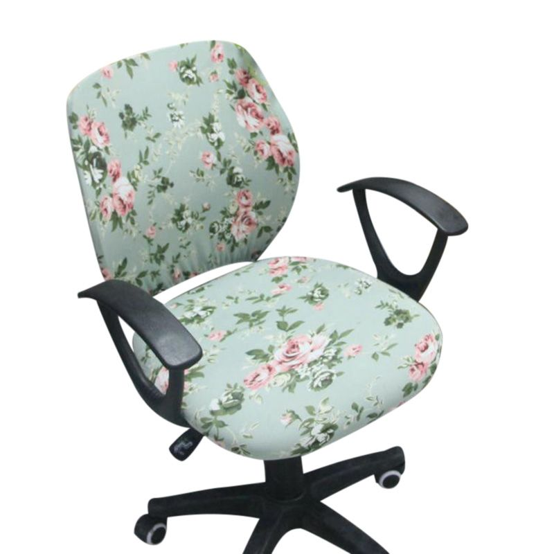 Офисное кресло Чехлы для мангала спандекс компьютерное кресло чехол с цветочным принтом Съемный вращающийся стул Чехлы для мангала стрейч ...