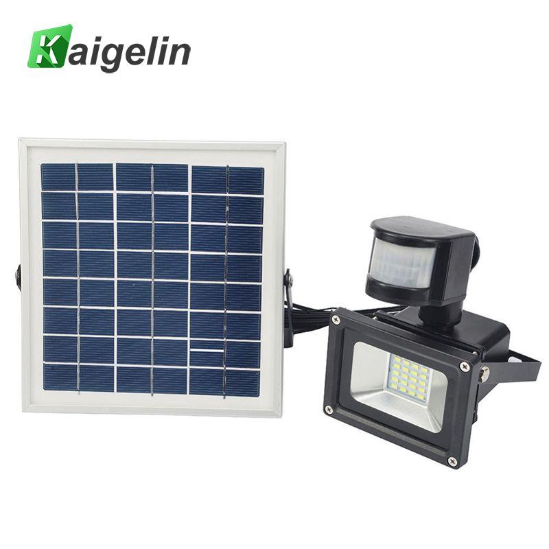 10 W 12 V Solaire Alimenté LED Lumière D'inondation PIR Motion Sensor LED Projecteur IP65 SMD5730 Solaire Projecteur Solaire Alimenté jardin Lampe