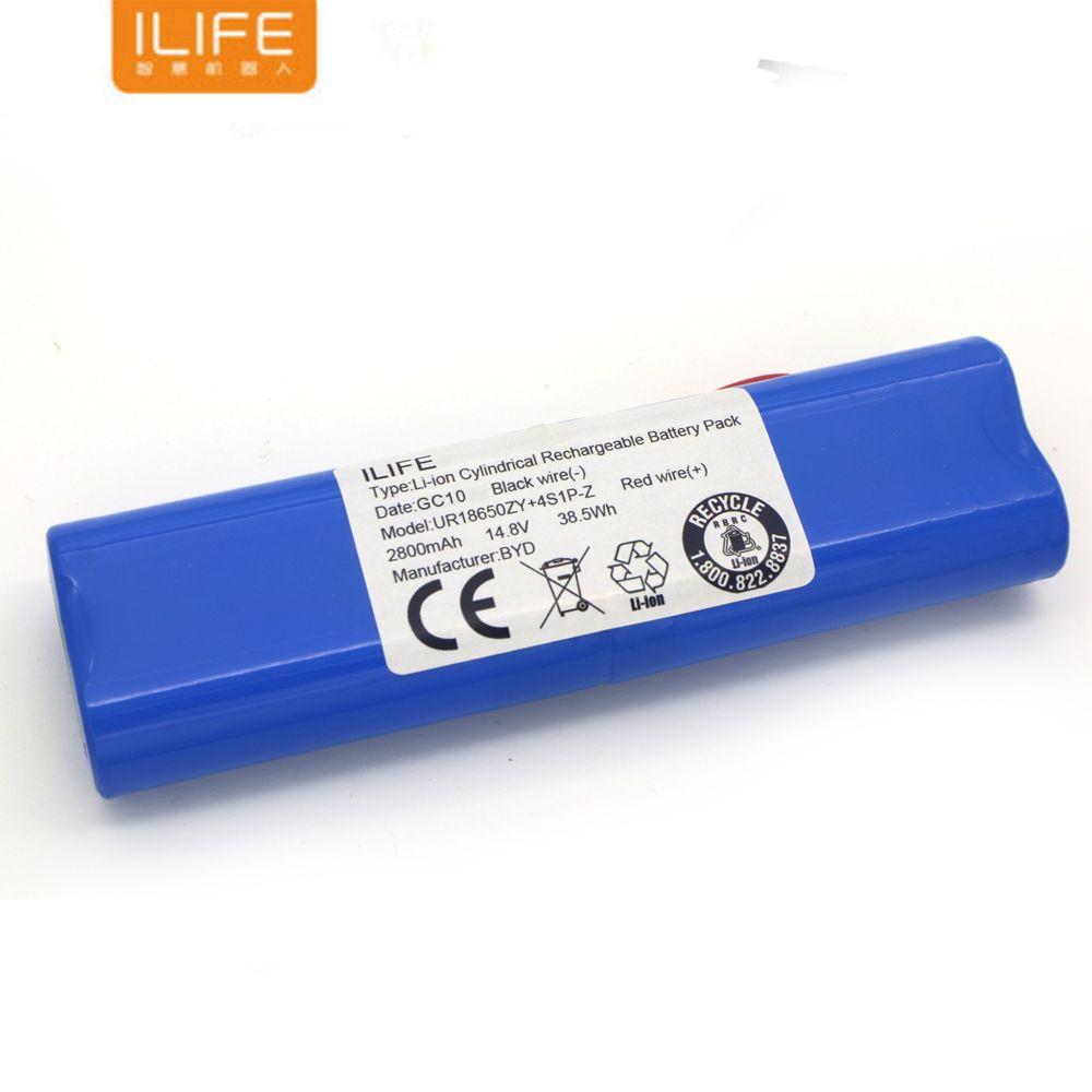 Haute qualité Rechargeable ILIFE ecovacs batterie 14.8 V 2800 mAh robot nettoyeur accessoires pièces pour Chuwi ilife V50 V55 V8s