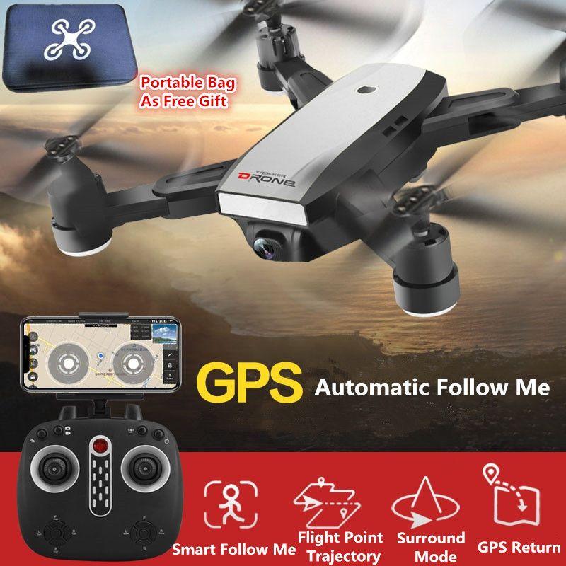 Foldable Aerial Drone GPS Wifi FPV Follow Me Remote Control RC drone 720P 1080P adjustable camera VS X8 PRO B5W B2W With Bag