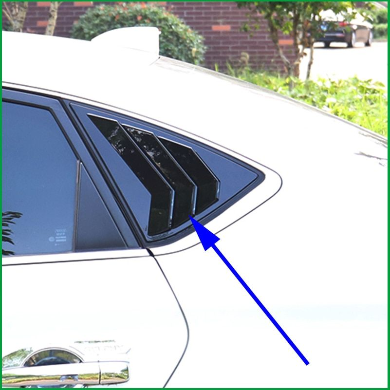 For Nissan Sentra / Sylphy Sedan 2014-2018 ABS Rear Side Window shades Louver Frame window-blinds Cover Sticker Trim