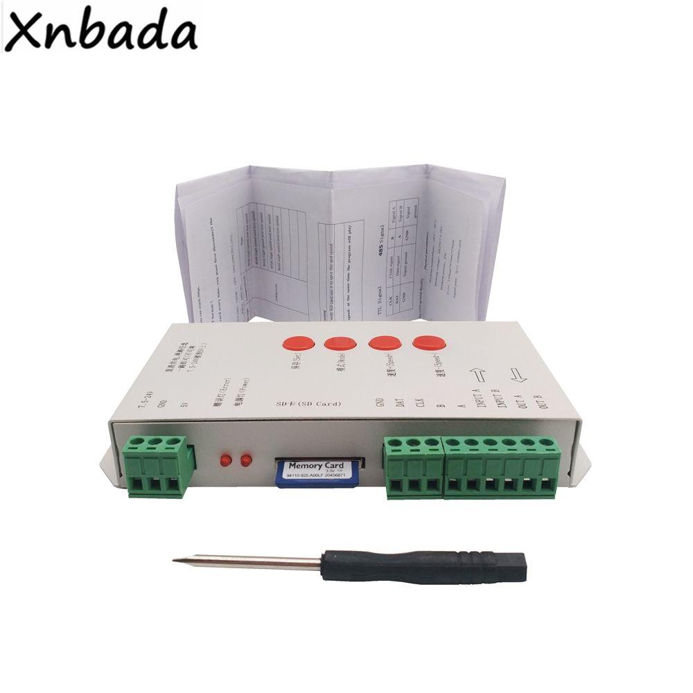 Tarjeta SD T-1000S Llevó el Regulador Tira Con 256 M 2048 Píxeles Para SK6812 Llevó la Tira WS2801 WS2811 WS2812B LPD6803 DC5-24V