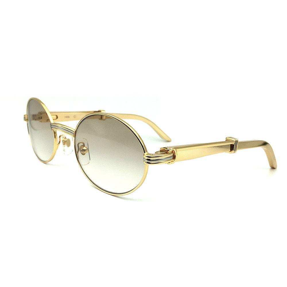 Luxus Marke Designer Carter Gläser Männer Edelstahl Optische Rahmen Gold Sonnenbrille Für Frauen Runde Herren Sonnenbrille