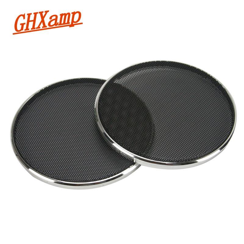 GHXAPM 2 PCS 4 pouce Tweeter Haut-Parleur Grill Maille Enceinte filet De Protection Couverture DIY Électrolytique argent