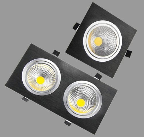 1 pcs 5 w 7 w 10 w 20 w AC85V-265V 110 v/220 v LED dimmable Plafond carré cob Downlight Encastré LED Mur lampe Spot light led ampoule