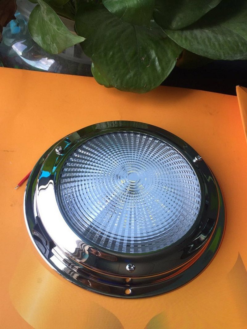 12 V LED Edelstahl Dome Licht Marine Boot Yacht Caraven Wohnmobil 4