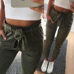 Nouvelle 2018 de mode d'hiver femmes pantalon en daim style dames bas En Cuir femelle pantalon Casual crayon pantalon taille haute pantalon