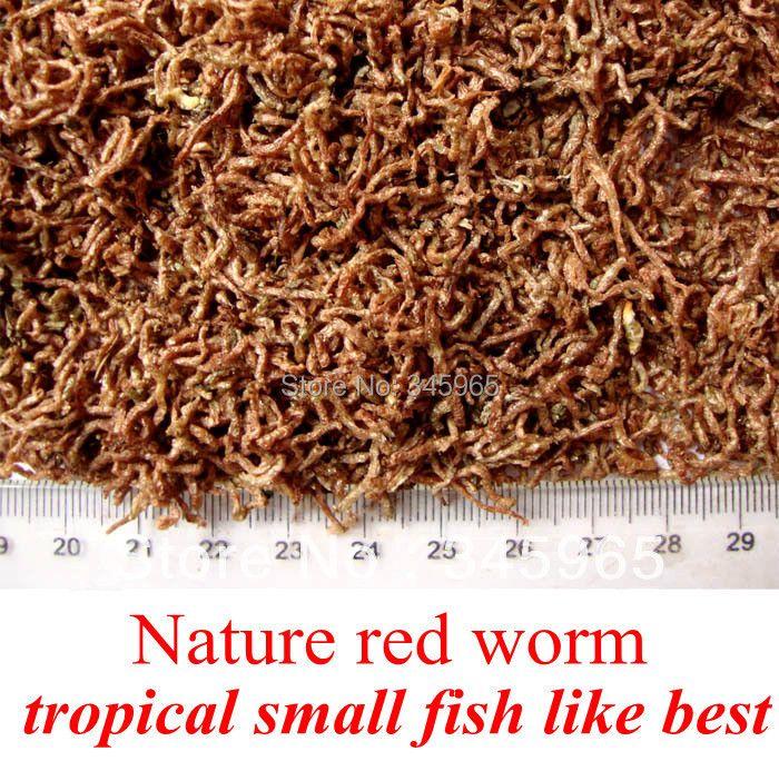 Livraison gratuite séchées rouge ver betta aliments de poissons tropicaux poissons alimentaire 100 g